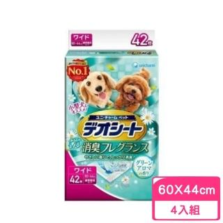 【Unicharm 消臭大師】小型犬狗尿布LL42〈60*44cm〉森林香(4包組)
