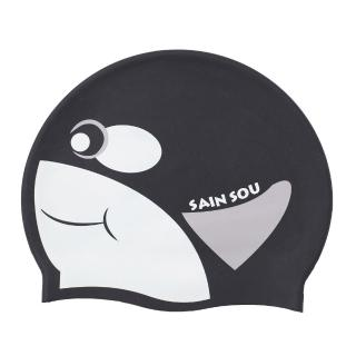 【SAIN SOU 聖手牌】兒童專用印花矽膠泳帽(A35410)