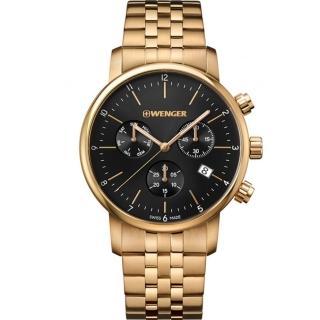 【WENGER 威戈】Urban三眼計時腕錶(01.1743.103)