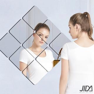 【佶之屋】居家佈置DIY圓弧角加厚背膠鏡面貼 15x15cm(6入x1組)