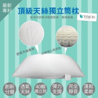 【Aaron艾倫生活家】MIT台灣製造 御用天絲舒壓獨立筒枕(一入)