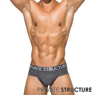 【PRIVATE STRUCTURE】P.S 心機鎧甲-白金天竹纖維超彈透氣抑菌三角內褲(鐵灰色)
