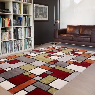 【范登伯格】SEVILLA 幾合色塊進口地毯-方格(120x170cm)