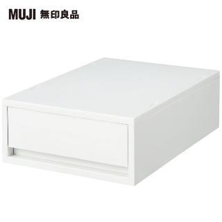 【MUJI 無印良品】PP盒/ 淺型/ 正反疊/ 白灰