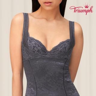 【Triumph 黛安芬】美型美體衣系列 塑身衣M-EL(柔霧灰)