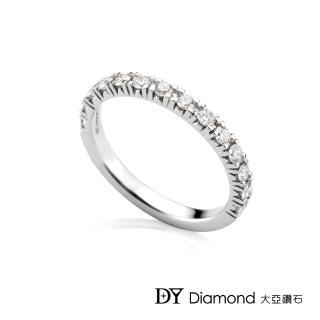 【DY Diamond 大亞鑽石】18K金 時尚鑽石線戒