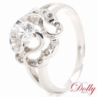 【DOLLY】花漾綻放 晶鑽銀飾戒指