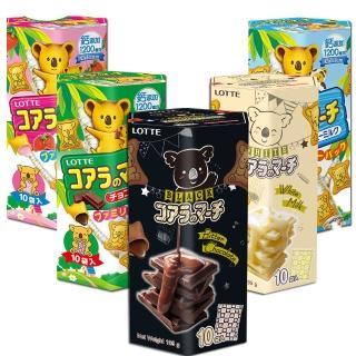 【LOTTE】樂天小熊餅乾-家庭號195g(五口味任選)