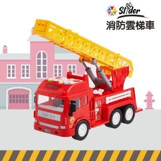 【Slider】聲光磨輪工程車(消防雲梯車)