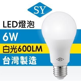 【SY 聲億科技】6W  LED 高效能廣角燈泡-9入(CNS版)