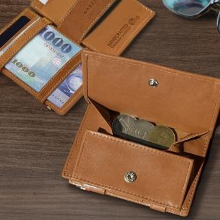 比利時 GARZINI 翻轉皮夾/零錢袋款/深棕色(皮夾)