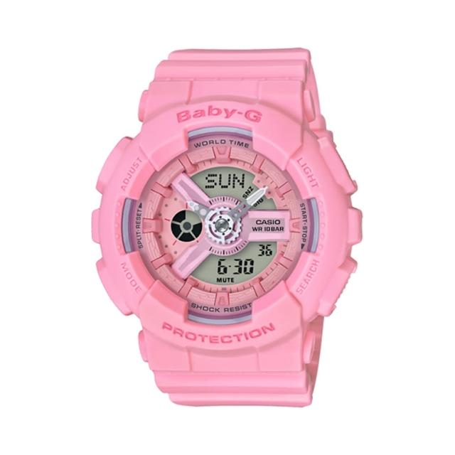 【CASIO 卡西歐】BABY-G Pink Color Series粉嫩氣息腕錶(BA-110-4A1)