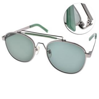 【FAKE ME 太陽眼鏡】韓系休閒復古風(銀綠-綠鏡片#OZZY JAD)
