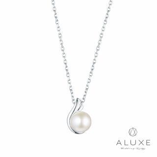 【A-LUXE 亞立詩】寵愛系列Beloved 18K金6mm淡水珍珠項鍊(白)