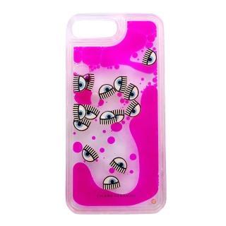 【Chiara Ferragni】粉紅泡泡眨眼I phone 7 Plus手機殼(5.5吋)