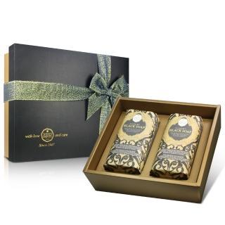 【Nesti Dante】義大利手工皂-尊寵黑金淨化皂禮盒(250g×2入)