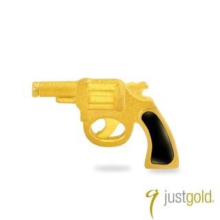 【Just Gold 鎮金店】繽紛派對系列 黃金單耳耳環-手槍
