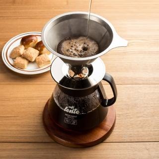【慢拾光】手沖式不鏽鋼咖啡組(玻璃壺+304不鏽鋼濾網)