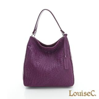 【LouiseC.】羊皮編織大方包 --- 紫色(LC4322-10)