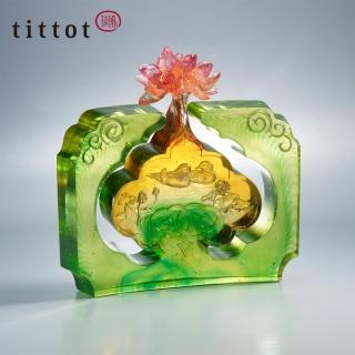 【tittot 琉園】荷喜如意擺飾(琉璃)