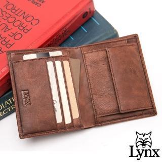 【Lynx】美國山貓進口牛皮系列6+3卡短夾-共2色
