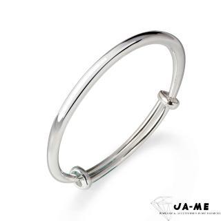 【JA-ME】999千足銀簡約圓骨手鐲/