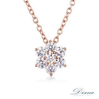 【DINA 蒂娜珠寶】許願花輕珠寶 14K金微鑲項鍊(優雅花朵情)