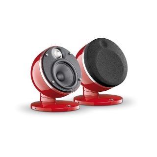 【FOCAL】福利品 DOME 2.0 紅色時尚鏡面兩聲道喇叭(法國手工打造)