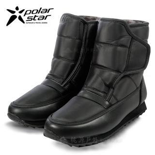 【PolarStar 桃源戶外】女 防潑水 短筒 保暖雪鞋 雪靴 冰爪 P13620 內厚鋪毛(防滑鞋底 非UGG靴 賞雪 滑雪)
