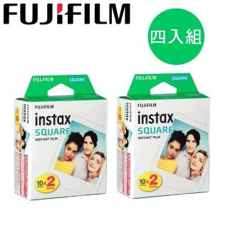 【FUJIFILM 富士】instax SQUARE 方形空白底片(4入/共40張)