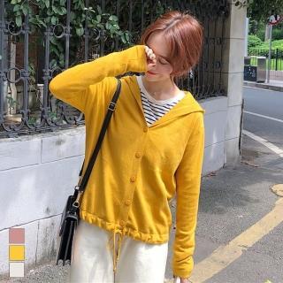 【MsMore】韓國梨花大學氣質文青連帽下襬抽繩針織外套103032*現貨+預購(3色)