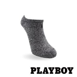 【PLAYBOY】經典兔頭刺繡花紗運動女襪-黑(運動襪)