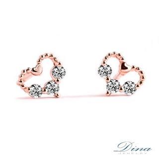 【DINA 蒂娜珠寶】心心相惜輕珠寶 9K抗過敏耳環(JS56608)