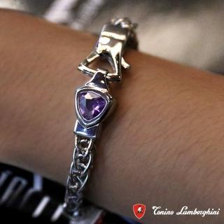 【藍寶堅尼Tonino Lamborghini】SCUDO Purple blue手環 手鍊 防抗過敏 SUS316L頂級不鏽鋼 義大利精品
