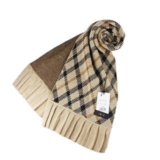 【DAKS】經典格紋長圍巾(駝色)