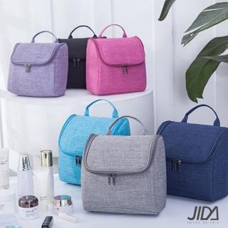 【JIDA】簡約質感可懸掛大容量化妝包/盥洗包