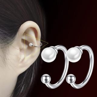 【I-SHINE】小確幸-韓國氣質珍珠弧形無耳洞耳骨夾(小確幸)
