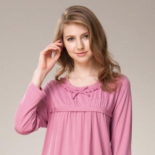 【La Felino 羅絲美】機能竹碳纖維長袖褲裝睡衣(桃粉色)