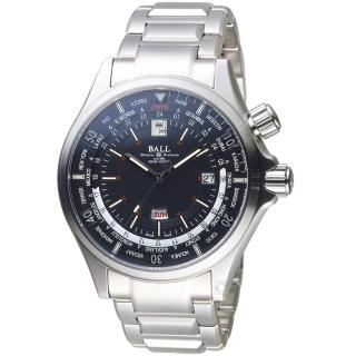 【BALL 波爾】Engineer Master II Diver Worldtime機械錶(DG2022A-S3A-BK 黑)
