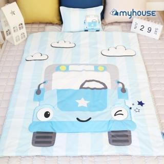 【myhouse】韓國防蹣抗敏兒童睡袋 -(小汽車)