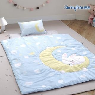 【myhouse】韓國防蹣抗敏兒童睡袋 -(月兔藍)