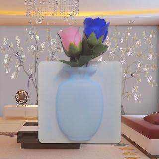 【金德恩】魔術矽膠花瓶造型收納盒(花瓶/貼式/花瓶/收納/膠片)