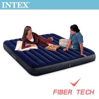 【INTEX】經典雙人加大_新款FIBER TECH_充氣床墊-寬152cm(64759)