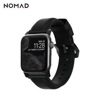 【美國NOMAD】美國NOMADxHORWEEN Apple Watch專用質樸黑皮革錶帶-經典黑(Watch 錶帶)