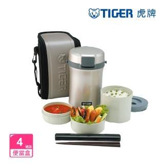 【TIGER 虎牌】不鏽鋼保溫飯盒_4碗飯(LWU-B200)