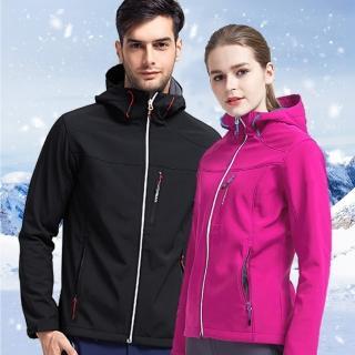 【NEW POWER】專櫃抓絨保暖軟殼男女戶外休閒外套-4色可選(多口袋/防潑水/抓絨聚熱)