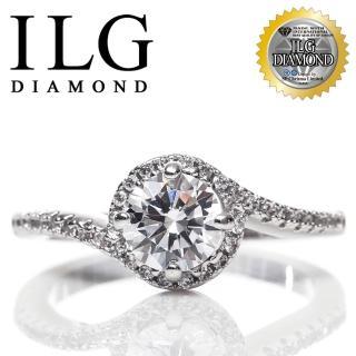 【ILG】八心八箭戒指- Loving love款 Ri129 主鑽約75分 甜蜜戀情 幸福花火(白K金色)