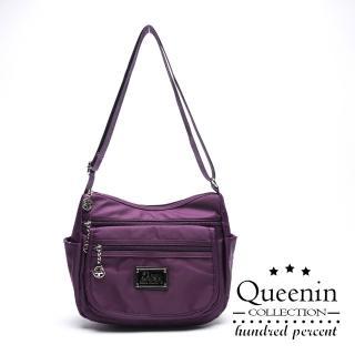 【DF Queenin】輕巧便捷防潑水側背流行水餃包-共2色