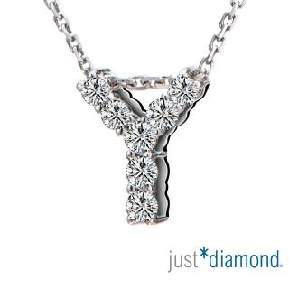 【Just Diamond】Love Words字母系列 18K金鑽石墜子-Y