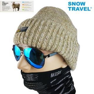 【SNOWTRAVEL】AR-18美麗諾羊毛85%+Thinsulate Ultra羊毛帽-駝色-日本外銷限量(滑雪/登山/海釣/賞雪)